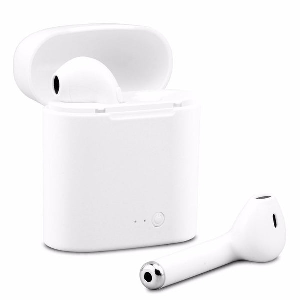 New True Wireless Headphones Headsets Stereo In-Ear Earpieces Earphones with Charging Box for iPhone X 8 7 Android Windows