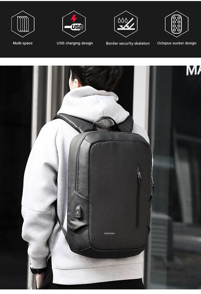 New Traveler's Multifunction USB Charging Backpack Large-Capacity 15.6 Inch Laptop Men Travel Business Backpack