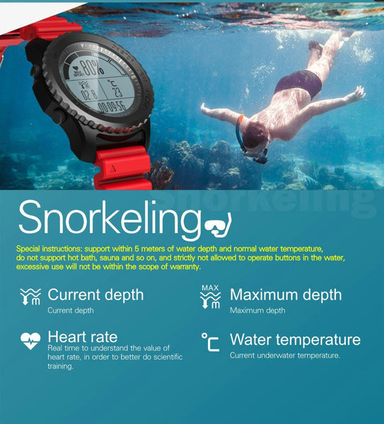 New GPS Sport Smart Watch Waterproof Sleep Heart Rate Monitor Thermometer Altimeter Pedometer GPS Smartwatch for IOS Android Windows