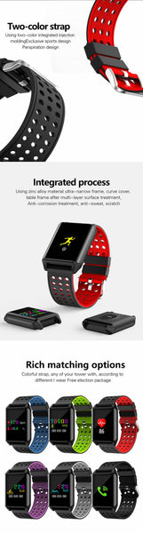 New 0.95 Inch OLED Color Screen Smart Watch Blood Oxygen Pressure Heart Rate Monitor Pedometer for Android IOS Windows