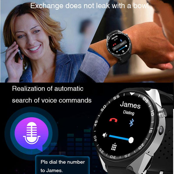 New Luxury Sports Smart Watch with 3G GPS WIFI Touch Screen Call Reminder Android 5.1 Wearable Devices
