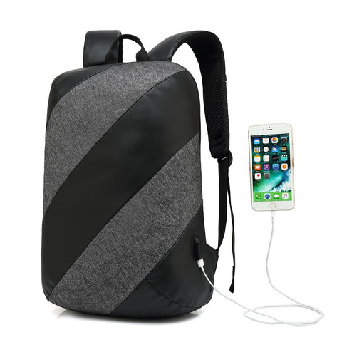 New USB Charge Backpack  Notebook Business 15.6 Computer Bag Water-Resistant Anti-Theft Travel Bag