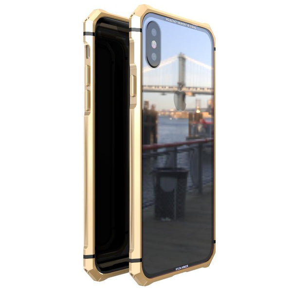 New Luxury Ultra Slim Hard Phone Case Aluminum Metal Bumper Cover Shock-Resistant Coque Case for iPhone X