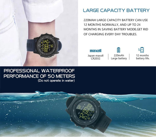 New Smart Watch Smartwatch Waterproof Swimming Stopwatch Fitness Tracker Sports Pedometer Smart Wristwatch for IOS Android
