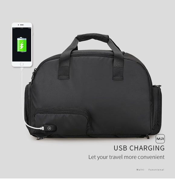New Travel Bag Large Capacity Waterproof Bags For Business Multifunctional USB Recharging Luggage Bag