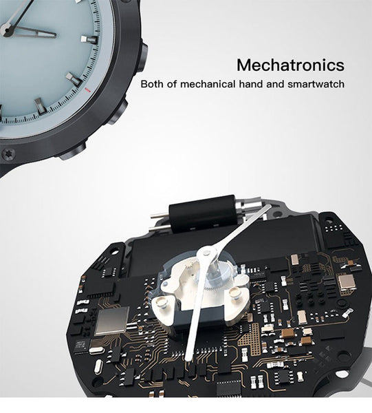 New Transparent Screen Smart Watch Men IP68 Waterproof Heart Rate Monitor Stainless Steel Clock Smartwatch For IOS Android