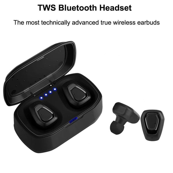 New Portable Mini Bluetooth 4.2 Hifi Earphone with Dual Mic TWS Wireless Earbuds Stereo Microphone with Charger Box for IOS Android