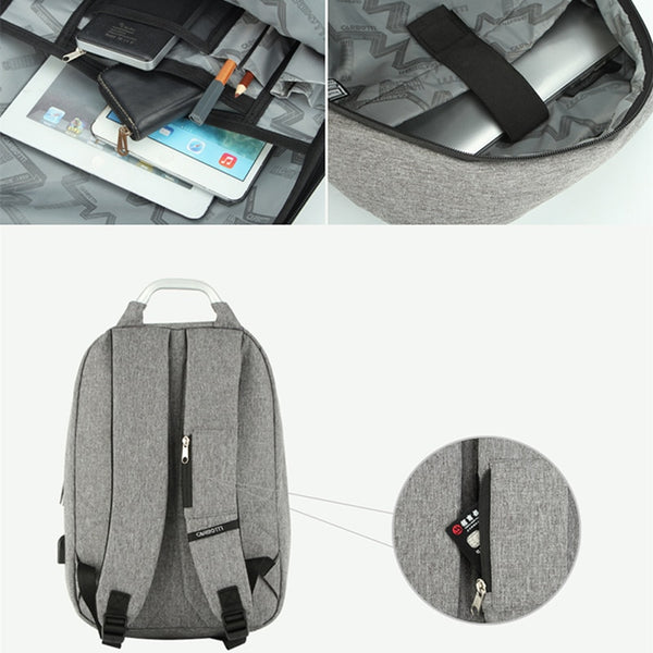 New Hard Shell Water-Repellent USB Charging Laptop Computer Outdoor Travel Backpack