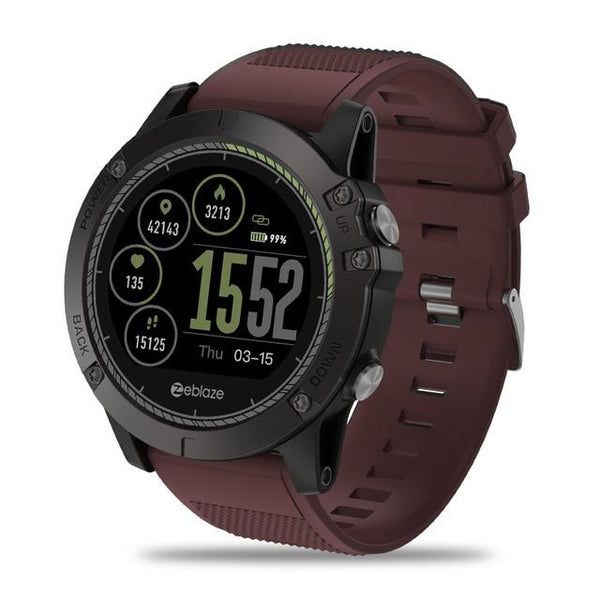 New Rugged Outdoor IP67 Waterproof Wearable Device Smartwatch Heart Rate Monitor Color Display Sport Smart Watch