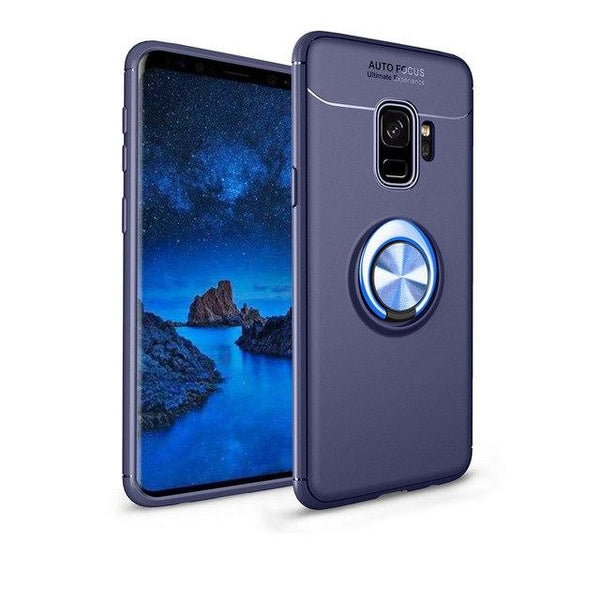 New Metal Magnet Car Kickstand Ring Grip Soft Silicone TPU Case for Samsung S9 Series