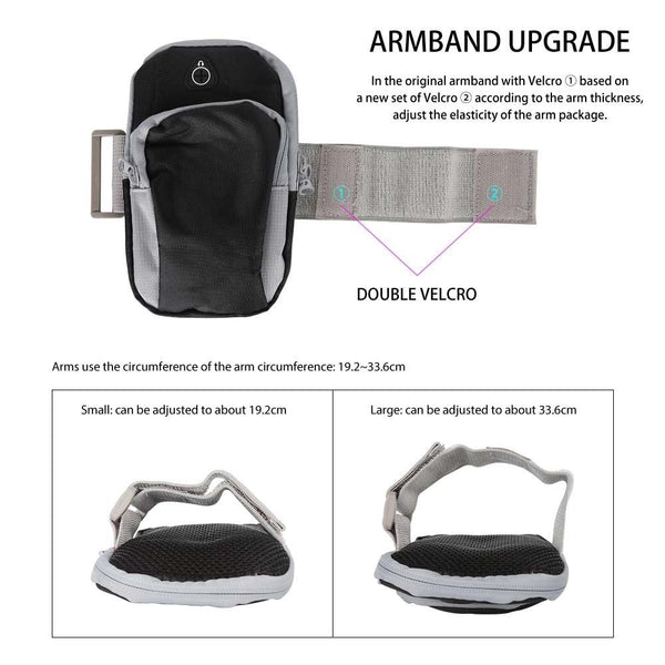 New Sport Running Armband Bag Case Cover Universal Outdoor Water-Resistant Mobile Phone Arm Band For iPhone Android Windows