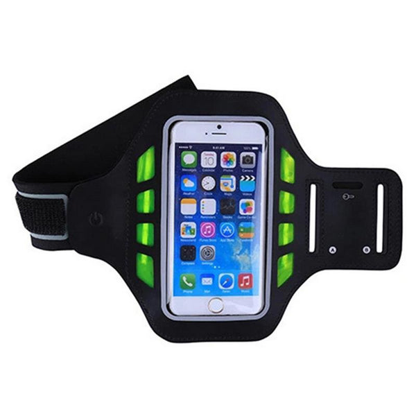 Newly LED Universal Armband Sweatproof 4.7/5.5 Inch Phone Arm Band for Sports Fitness Running iPhone Android Windows