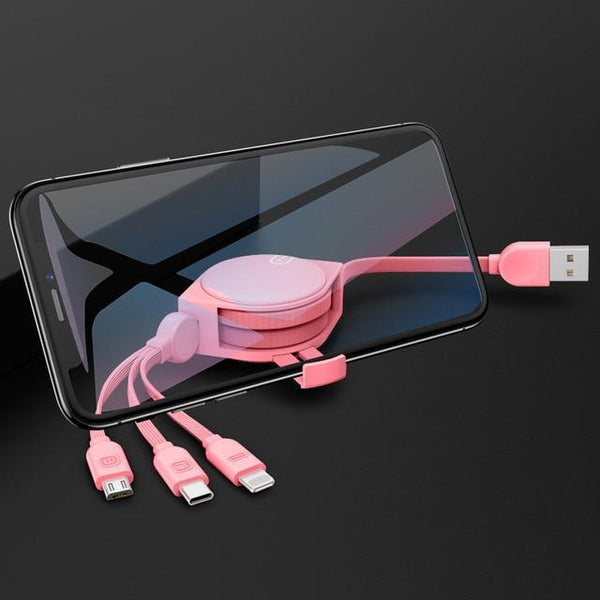 New USB Cable 3 in 1 Charging Mobile iPhone Cable Type C Micro USB For iPhone XR XS X 8 7 Galaxy Note 7 8 9