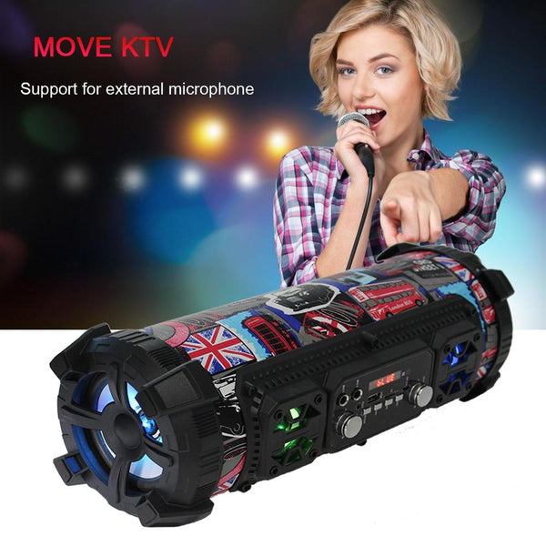 New HIFI Portable Bluetooth Speaker FM Radio 3D Sound Wireless Surround TV Sound Bar Subwoofer With Mic For IOS Android