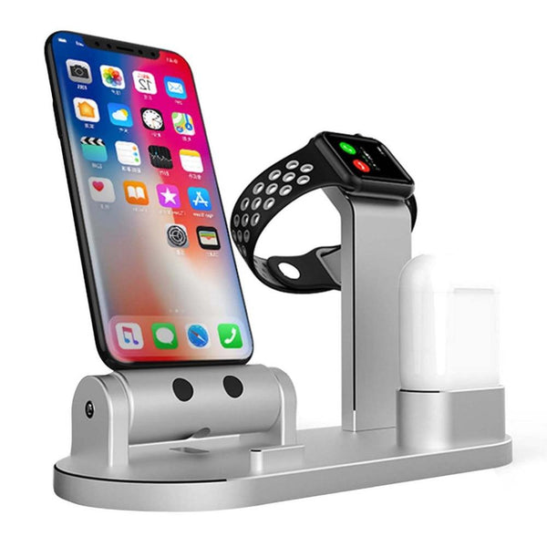 New Charging Dock Stand Holder Station for AirPods Apple Watch iWatch iPhone 11 XS XR X 8 7 6 6S Series