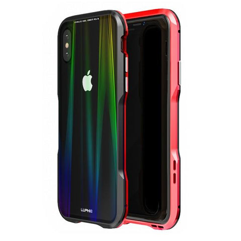 New Luxury Magnetic Alloy Metallic Armor Frame With 9H Steel Backboard Case For Apple iPhone XS XR Series