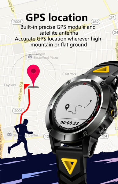 New GPS Compass Transparent Screen IP68 Speedometer Sport Watch Heart Rate Monitor Multi-Sport Fitness Tracker Smartwatch