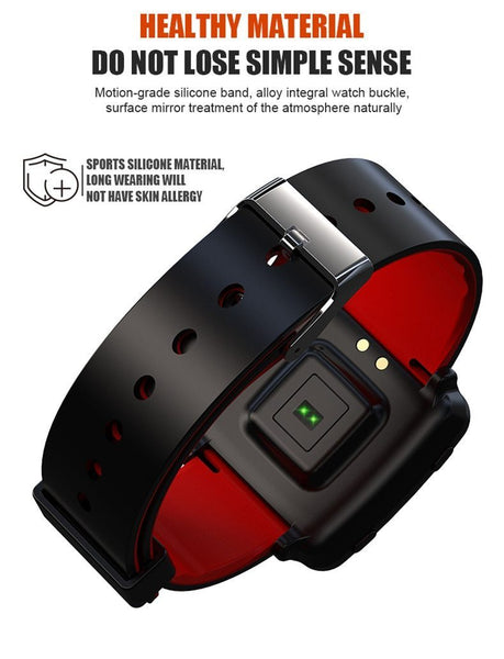 New Color Screen Smart Watch Bracelet Heart Rate Wristband Pedometer GPS Fitness Tracker Sports Band For iPhone Android
