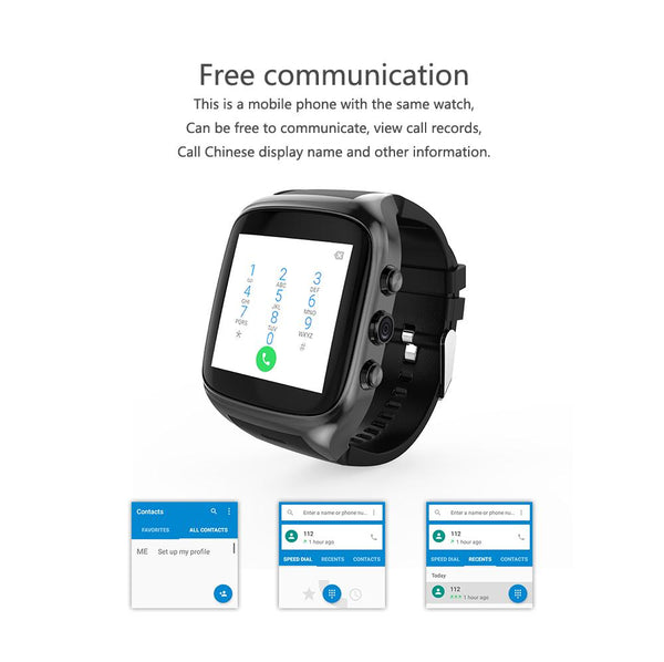 New 3G WiFi Android Smartwatch Phone Bluetooth Smart Watch 1.3GHz Dual Core GPS Watch For iOS Android