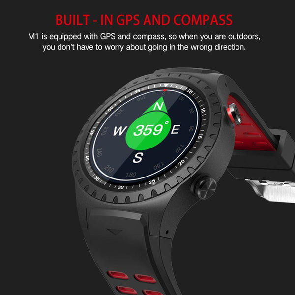 New Smart Watch Heart Rate Tracker Smartwatch GPS Wristwatch Support Sim TF Card Multi-Sport Smartwatch for Android iPhone Windows
