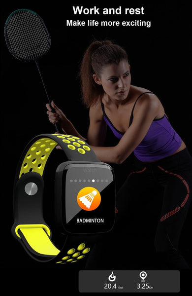 New Smart Watch Sport Waterproof Pedometers Push Message Bluetooth Swimming Smartwatch For iPhone Android