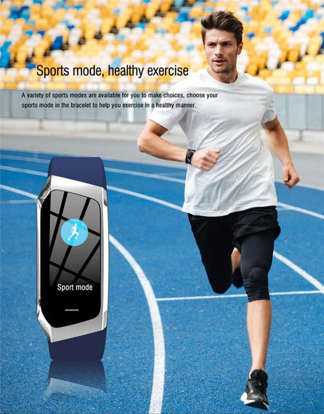 New Smart Band Color Touch Screen IP67 Waterproof Blood Pressure Oxygen Heart Rate Monitor Sport Bracelet