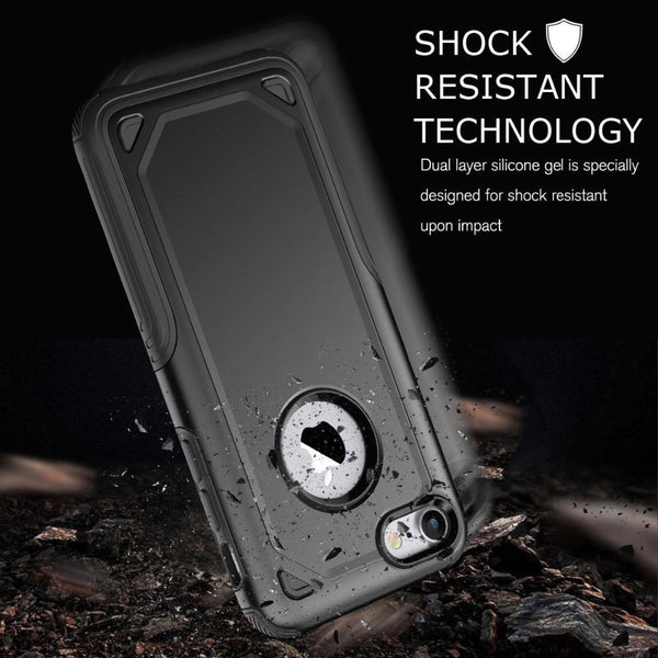 New Military Shockproof Slim Rugged Protective Armor Phone Case For iPhone X XS Max XR 8
