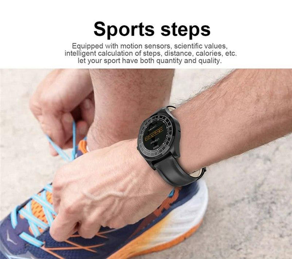 New Men Business Bluetooth Smart Watch Wristwatch Heart Rate Monitor Blood Pressure Fitness Tracker Smartwatch for Android iPhone Windows