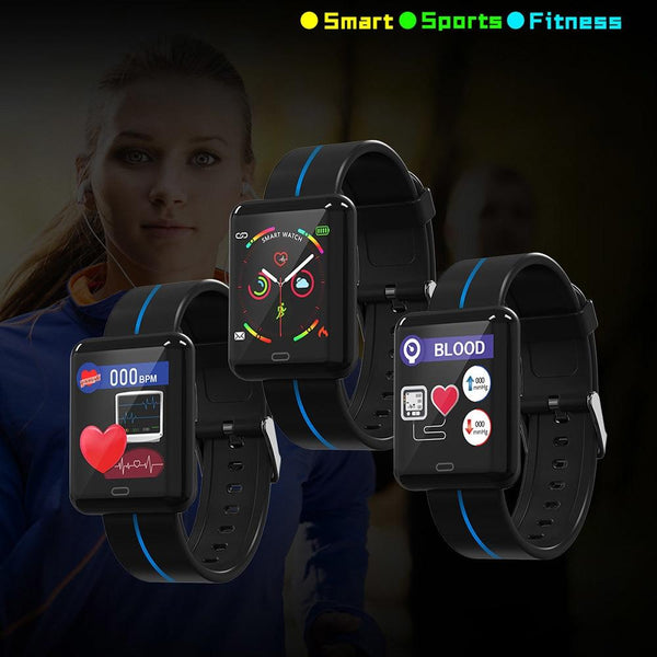 New Smart Sport Watch 1.3 Inch Touch Screen Heart Rate Monitoring Blood Pressure Bracelet For iPhone Android