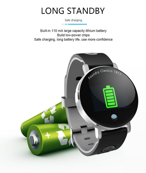 New IP68 Waterproof Bluletooth Fitness Tracker TFT Color Screen Smartwatch For Android IOS