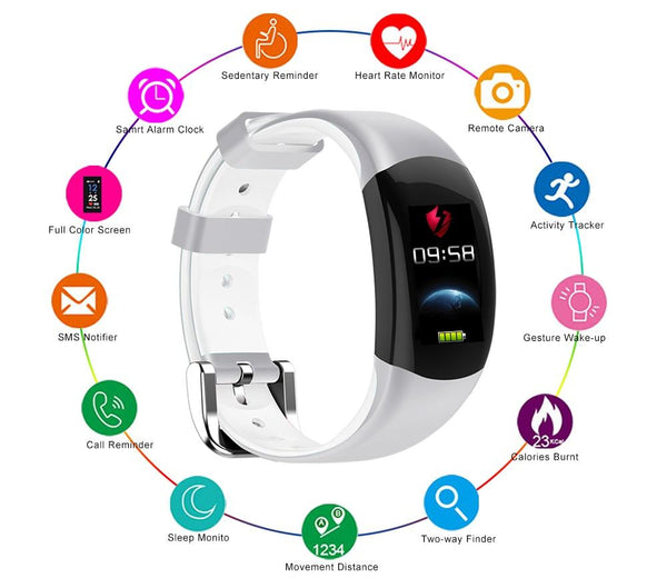 New Smart Fitness Bracelet Big 3D Display Heart Rate Monitor Waterproof Pedometer Smart Band Watch For iPhone Android