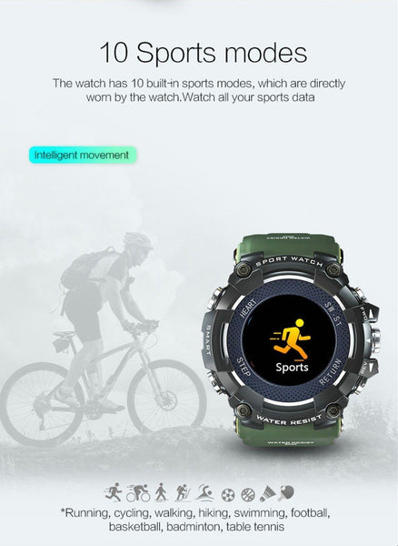 New Color Screen Sport Smart Watch 50 ATM Waterproof Men Heart Rate Monitoring Smartwatch For iPhone Android