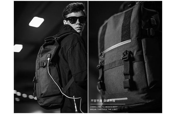 New Smart 40L Large Capacity Travel Backpacks Men USB Charge Outdoor Laptop Computer Multipurpose Bag