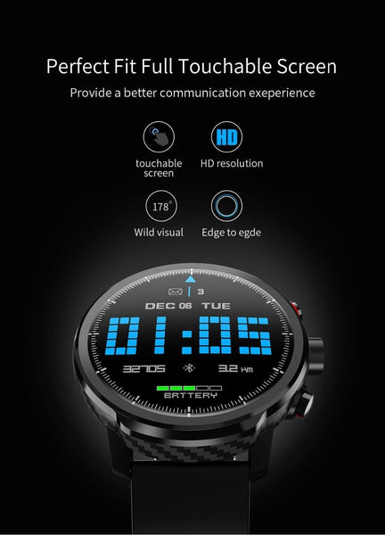 New Smart Watch IP68 Waterproof Multi-Sport Mode Heart Rate Monitoring Weather Forecast Smartwatch
