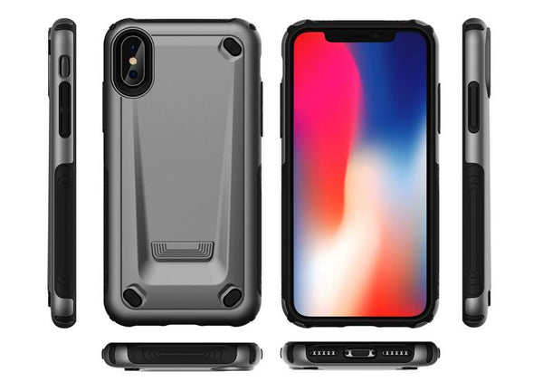 New Hybrid Tough Shockproof Bumper Armor Phone Case For iPhone XS MAX XR X 8 Plus