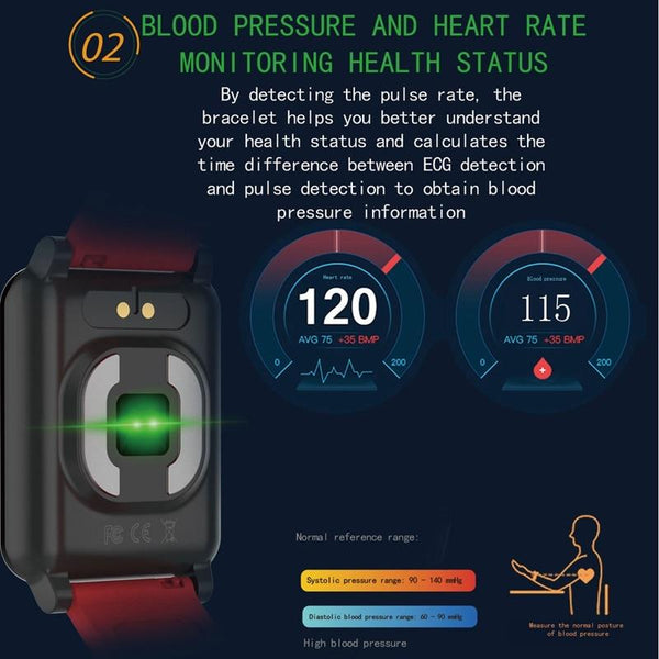 New Waterproof Smart Watch Blood Pressure Measurement Fitness Tracker GPS Smartwatch Bracelet For iPhone Android