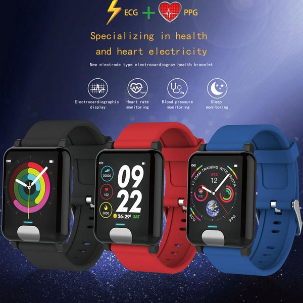 New Waterproof Smart Watch ECG PPG Blood Pressure Measurement Fitness Tracker GPS Smartwatch Bracelet For iPhone Android