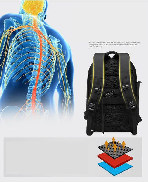 New Laptop Backpack Oxford USB charging Travel Backpack Anti-Theft Waterproof Zipper Fitness Bag With Shoes Pocket