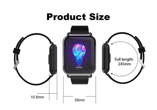 New IP67 Waterproof Dynamic Blood Oxygen Pressure Pedometer Fitness Tracker Heart Rate Smartwatch For Android iPhones