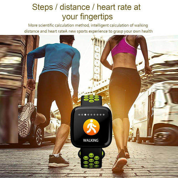 New Smart Watch Waterproof Blood Pressure Heart Rate Monitor Pedometer Cycling Mode Fitness Bracelet Band for IOS Androids