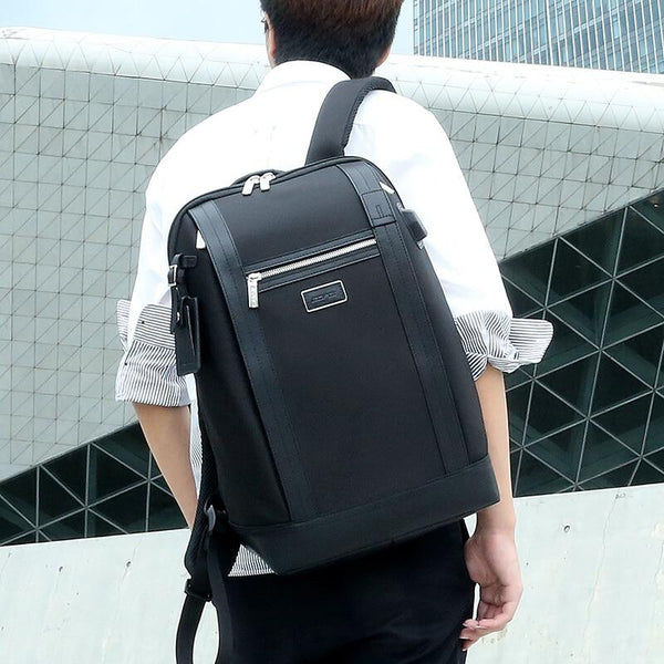 New Stylish Large Capacity Notebook Mochila Computer Bag Travel Backpack With USB Charging Port