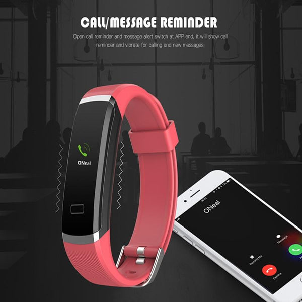 New Smart Wristband Color Screen Bracelet Smartwatch Fitness Tracker Heart Rate Monitor For Men Women