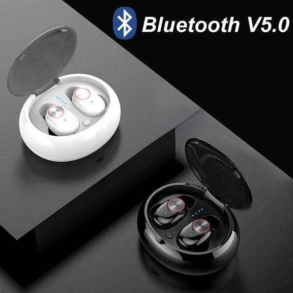 New TWS Earphone Waterproof Bluetooth 5.0 Headset Mini TWS Twins V5 Wireless Earphone In-Ear Sport Stereo Earbuds