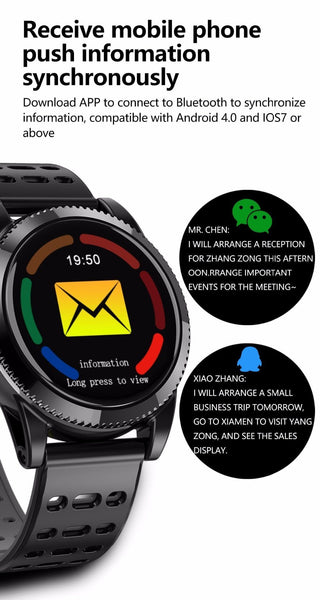 New Smart Watch 1.3'' Round Color Screen Multi-Dial Music Control Heart Rate Monitor Smartwatch For Android & iPhones