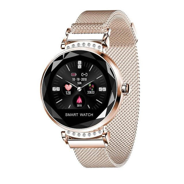 New Luxury Smart Fitness Bracelet Women Blood Pressure Heart Rate Monitoring Wristband Lady Watch
