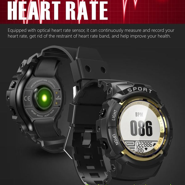 New Sport Smart Watch IP68 Waterproof Fitness Tracker Dynamic Heart Rate Compass Stopwatch Alarm Clock Smartwatch
