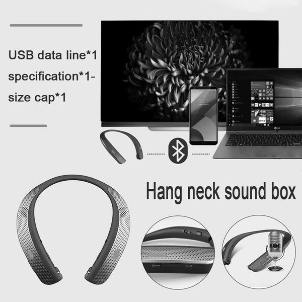 New Creative Neck Hanging Portable Bluetooth Wireless Speaker For Running Travel Exercise