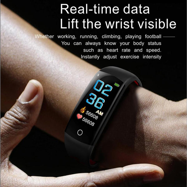 New Fitness Bracelet IP68 Waterproof Dynamic Heart Rate Blood Pressure Monitoring Tracker For iPhones Android