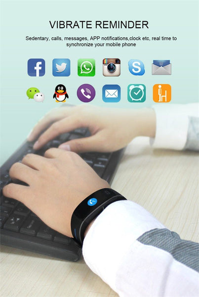 New Blood Pressure Smart Band Heart Rate Bracelet Fitness Tracker Watch Intelligent Wristband