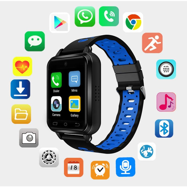 New 4G WIFI Android 6.0 Heart Rate Monitor Fitness Tracker Smartwatch For Men Women iPhone Android